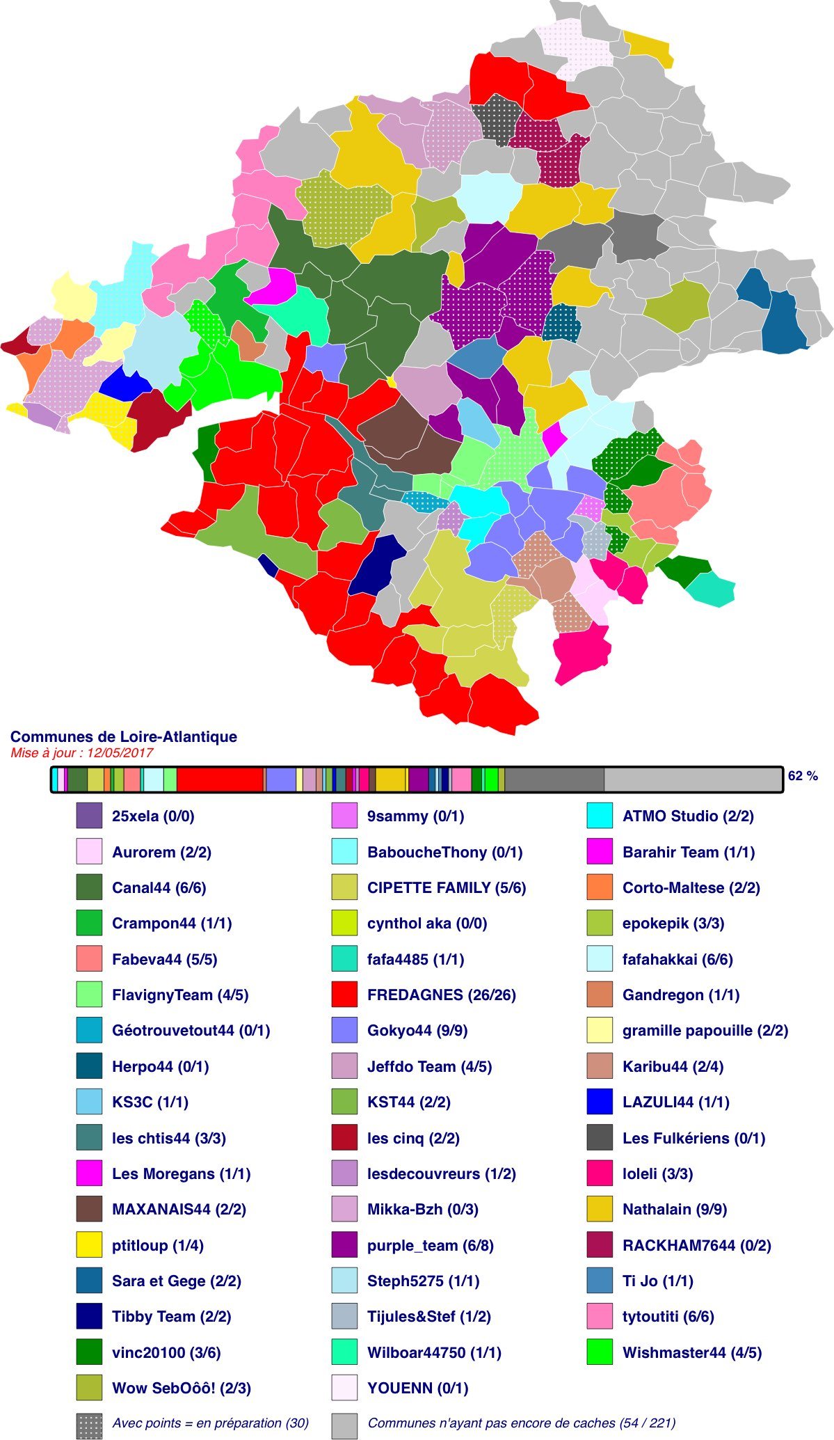 Carte des communes de Loire-Atlantique